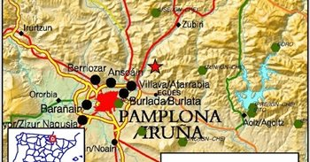 Réplica de magnitud 2,5 del terremoto sentido esta mañana en Pamplona
