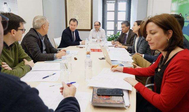 Reunión de los grupos políticas sobre la nueva ordenanza