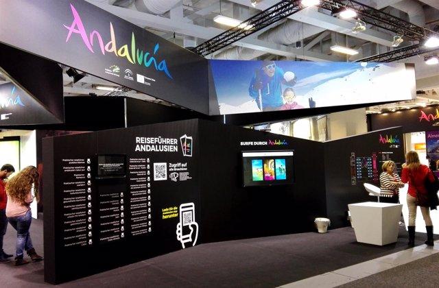 Espacio expositivo de Andalucía en la ITB de Berlín