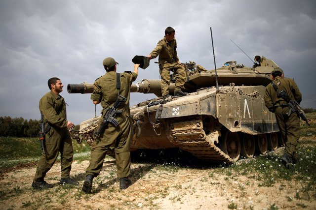 Ejército israelí cerca de la Franja de Gaza