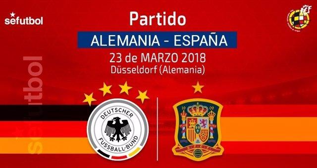 Alemania y España jugarán un amistoso el 23 de marzo