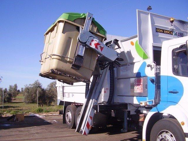 Sistema de carga de basura, bsaura, recogida de basura