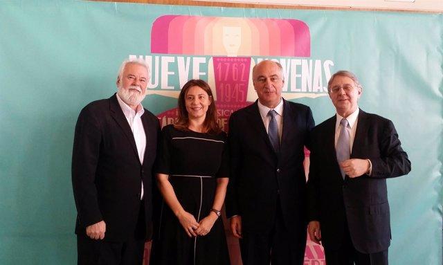 Antonio Moral, Montserrat Iglesias, Fernando Benzo y Víctor Pablo Pérez