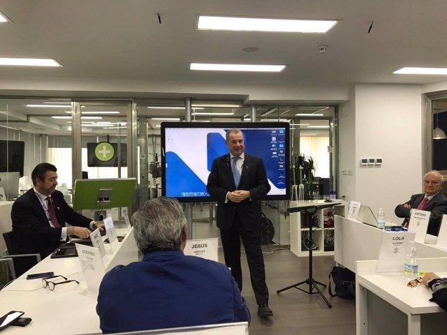 José Luis Jimeno presenta la nueva aula de formación de Noteges Consulting.