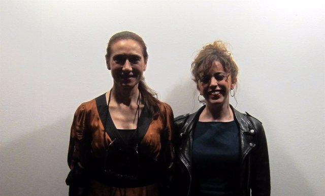 Rosana Pastor, izquierda, y Laura Casielles, derecha, en Salamanca