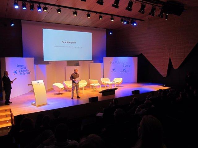 Raúl Marqueta en este acto de homenaje a voluntarios y entidades sociales