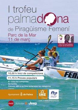 Cartel del trofeo Palmadona de piragüismo femenino