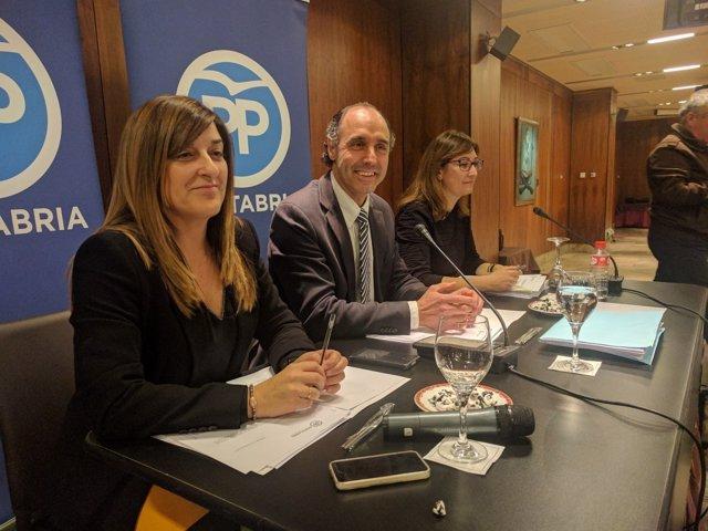 Junta Directiva del PP de Cantabria presidida por Ignacio Diego
