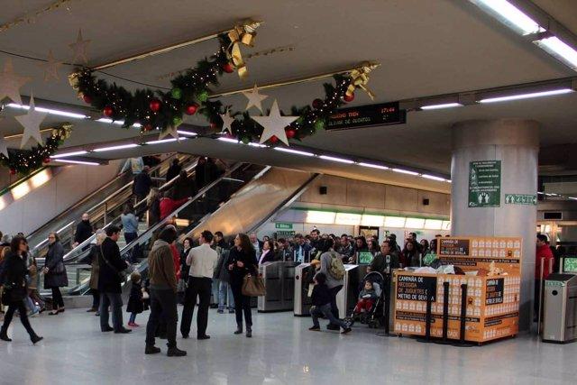 Usuarios de Metro de Sevilla