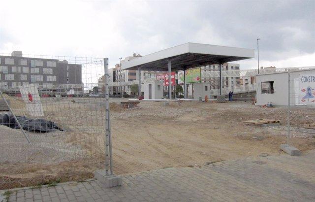 VALLADOLID. Obras de la estación de servicio que abrirá en la Avenida de Zamora