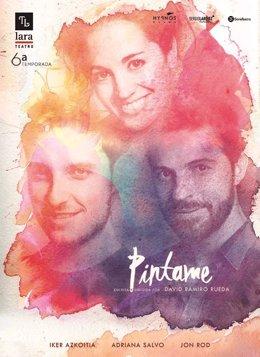 Cartel de la obra 'Píntame', de David Ramiro