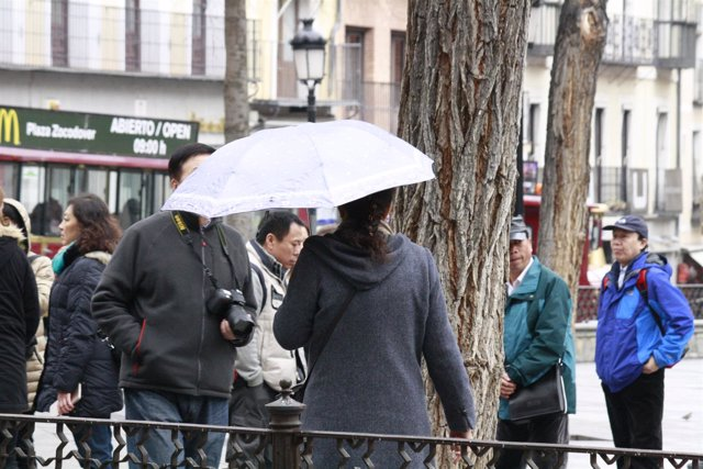 Paraguas, lluvia, Gente, Personas, mal tiempo