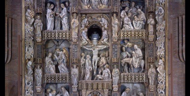 Gigapan del retablo de Torreciudad