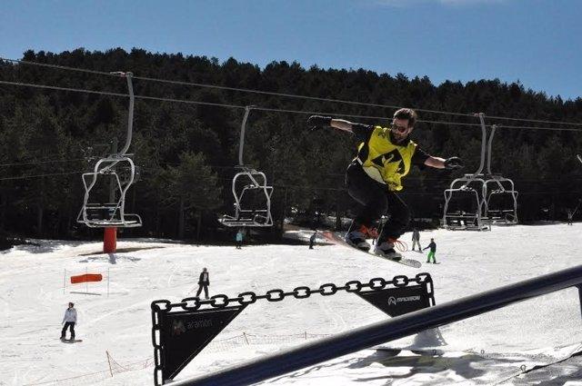 Competición de esquí Madison en Valdelinares