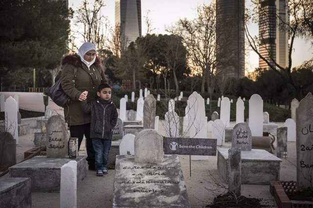 Save The Children Cementerio Guerra Siria Madrid