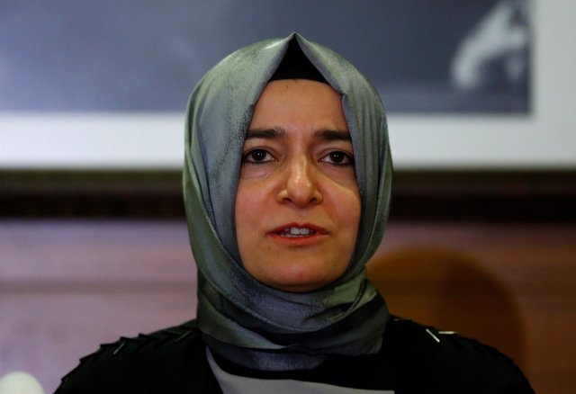 La ministra de Familia y Bienestar Social turca, Fatma Betül Sayan Kaya