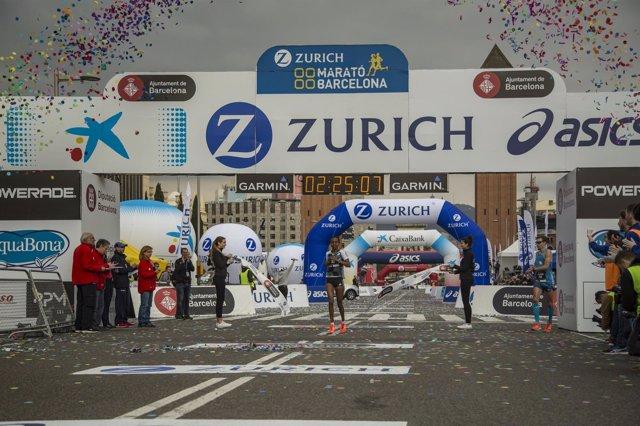 Helen Bekele, ganadora de la maratón de Barcelona