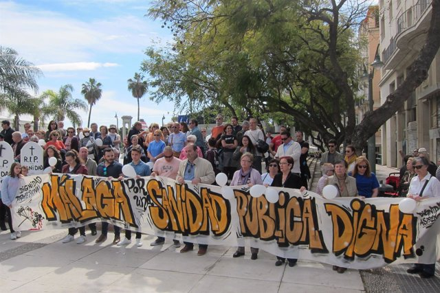 Málaga marcha sanidad digna 12 marzo 2017