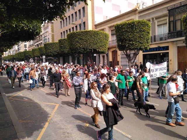 Movilización por una mejor sanidad en Almería