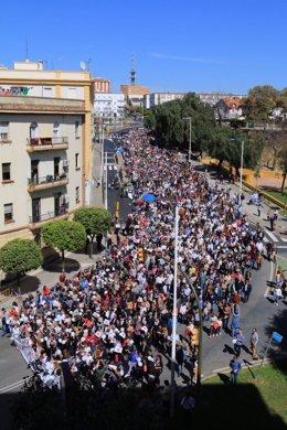 Manifestación por una mejor sanidad en Huelva