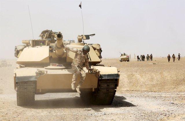 Tanque en la provincia de Anbar, en Irak