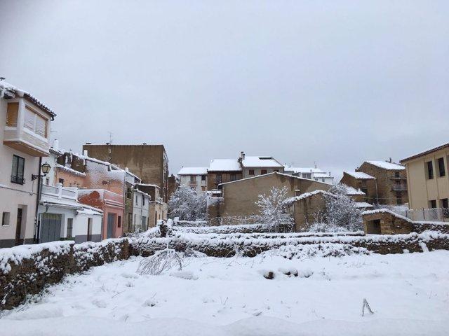 Nieve en Vilafranca el 13 de marzo