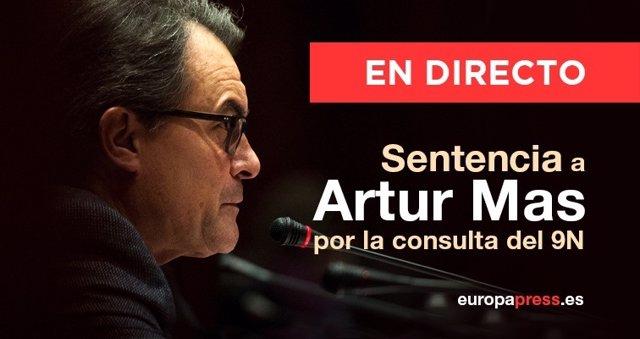 Sentencias a Artur Mas, Joana Ortega e Irene Rigau