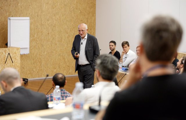 Juan Roig en una sesión con emprendedores