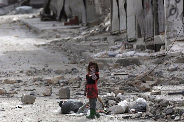 Niña siria en Al Bab