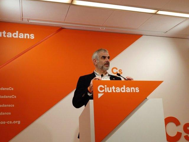 El portavoz parlamentario de Cs en Catalunya, Carlos Carrizosa