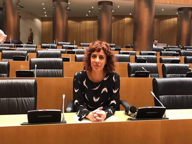 Alexandra Fernández, en el Congreso de los Diputados