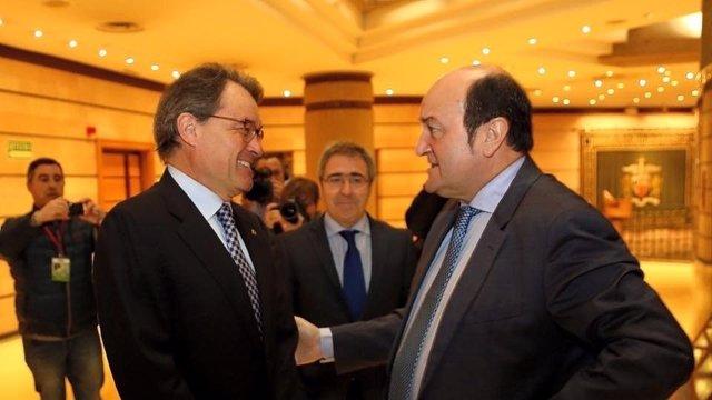 Andoni Ortuzar y Artur Mas
