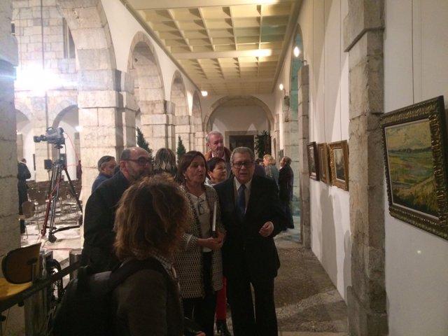 Inauguración de la exposición de Julio de Pablo en el Parlamento