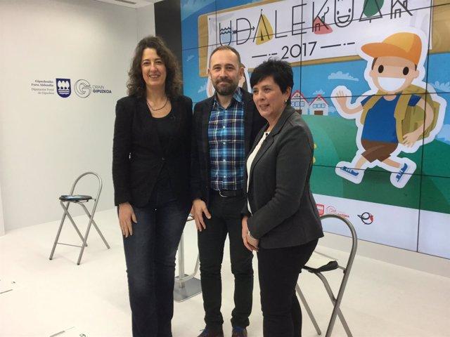 Lorea Bilbao, Denis Itxaso, Igone Martínez de Luna