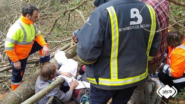 Accidente laboral en Cangas del Narcea