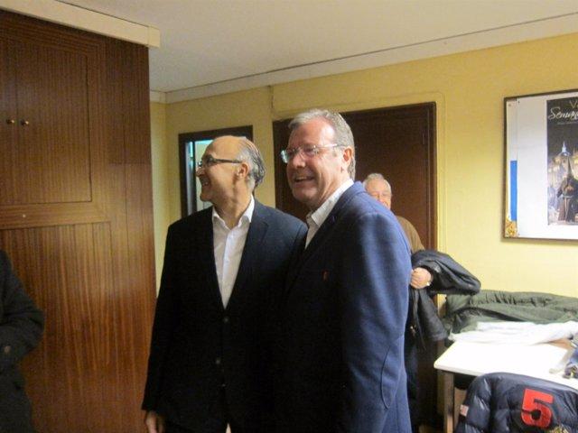 Ramiro Ruiz Medrano junto a Antonio Silván.
