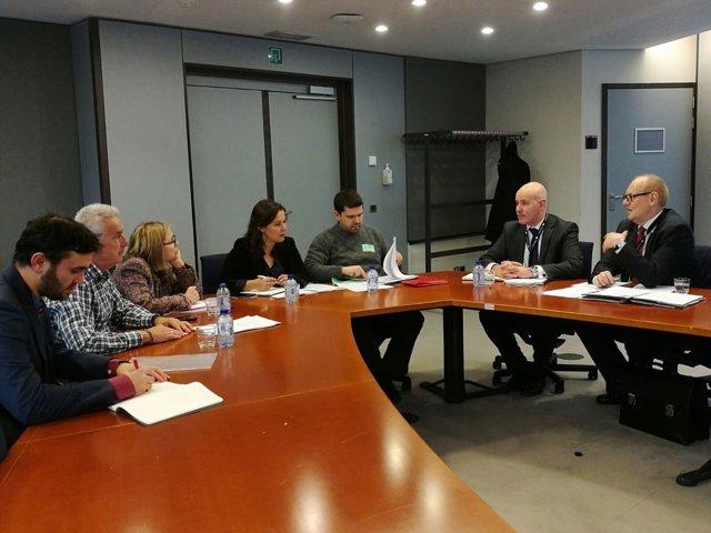 Reunión de víctimas del Alvia con la Agencia Ferroviaria Europea