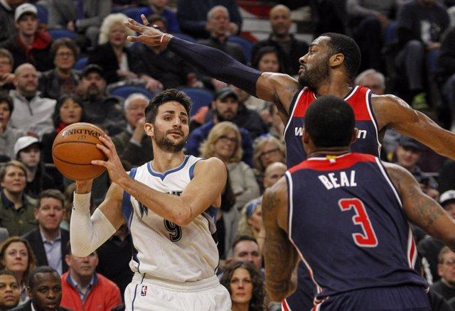 Ricky Rubio en el Minnesota Timberwolves - Washington Wizards