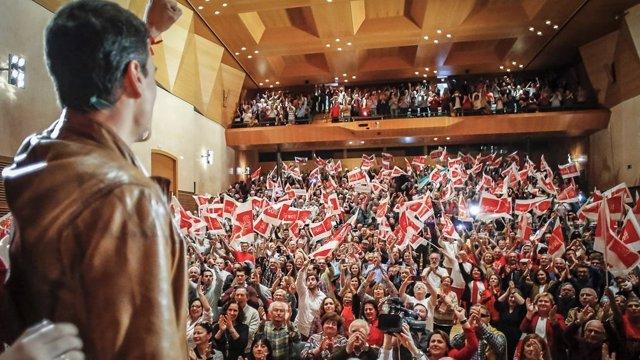 El socialista Pedro Sánchez en un acto en Cádiz