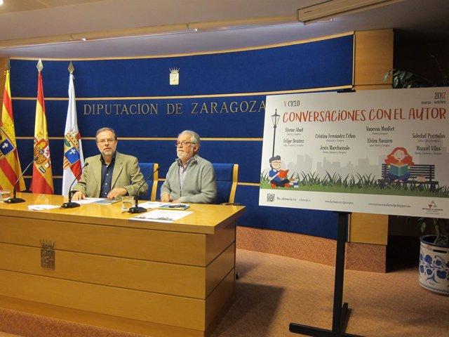 Bizén Fuster y Ramón Acín han presentado el V Ciclo Conversaciones con el Autor