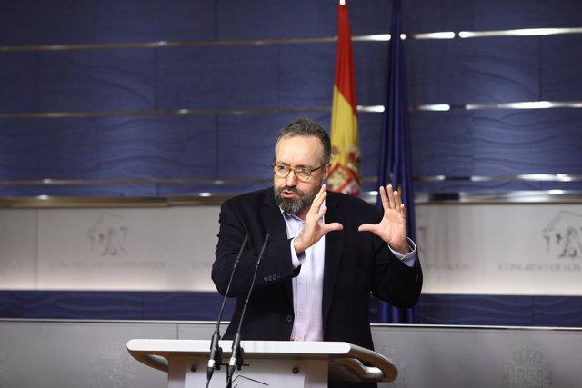 Rueda de prensa de Juan Carlos Girauta en el Congreso
