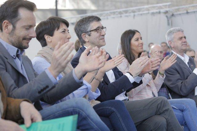 Patxi López durante un acto en Getafe