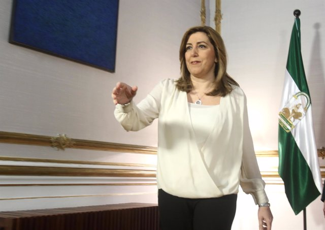 Susana Díaz tras reunirse con la presidenta del Consejo General de la Abogacía