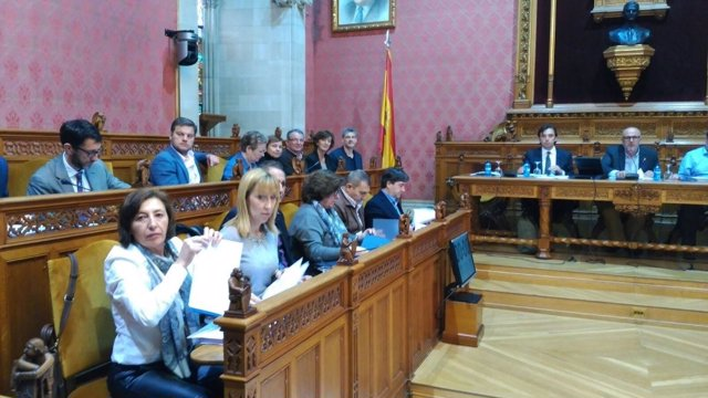Consellers electos del PP en el pleno del Consell de Mallorca