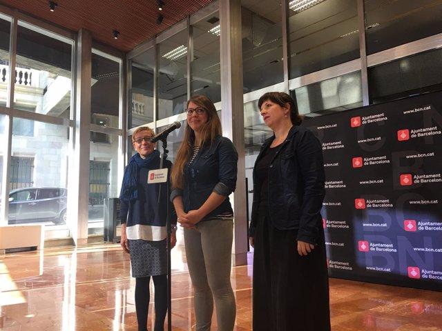 Carmen Andrés, Janet Sanz y Laia Ortiz