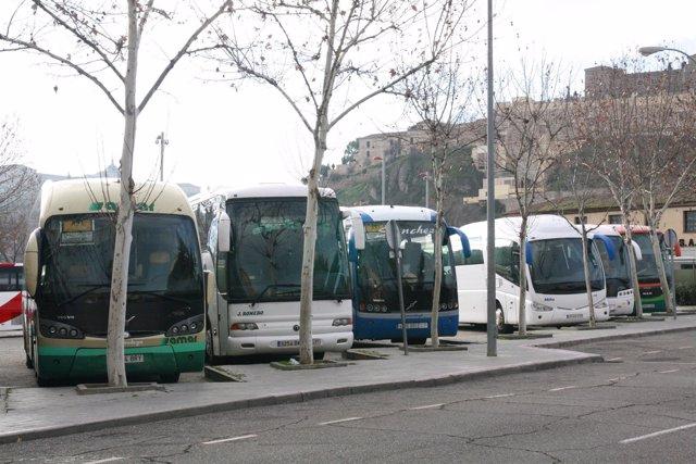 Parada, Autobús, Autobuses, Autocares,Aparcamiento
