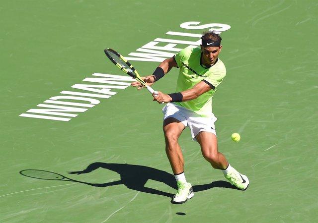 Rafa Nadal en el Masters 1000 de Indian Wells