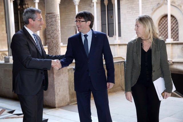 Puigdemont se reúne con el diputado general de Guipúzcoa, Markel Olano