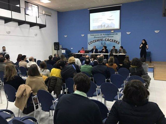 Presentación de accesibilidad de espacio naturales en Cáceres