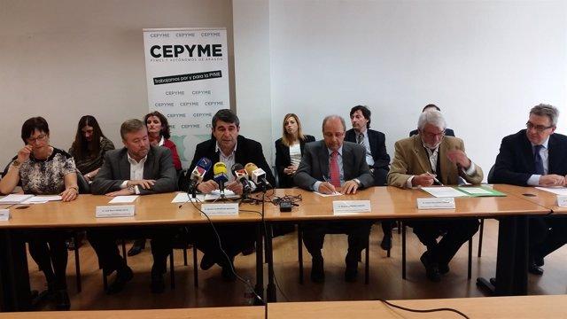 Miembros de la Federación de Polígonos Empresariales de Aragón